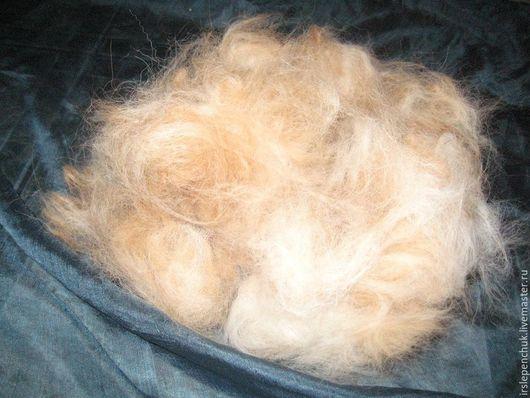 Волокна, пух для прядения ручной работы. Ярмарка Мастеров - ручная работа. Купить шерсть собачья  сенбернара(подшерсток, пух). Handmade. Бежевый