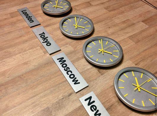 """Часы для дома ручной работы. Ярмарка Мастеров - ручная работа. Купить Настенные часы """"Столицы мира"""". Handmade. Часы, время"""