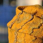 """Аксессуары ручной работы. Ярмарка Мастеров - ручная работа """"Mustard"""" комплект шапочка и митенки. Handmade."""