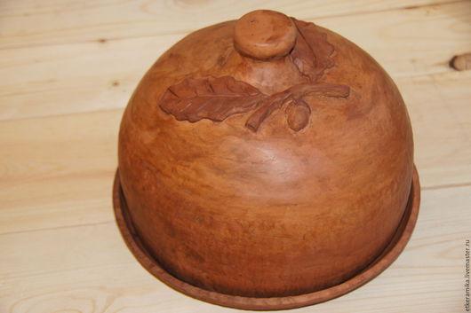 Посуда ручной работы. Ярмарка Мастеров - ручная работа. Купить Блинница. Handmade. Оранжевый, керамика ручной работы, хлебница из керамики