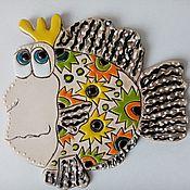 Картины и панно handmade. Livemaster - original item Ceramic hand panel: Queen. Handmade.