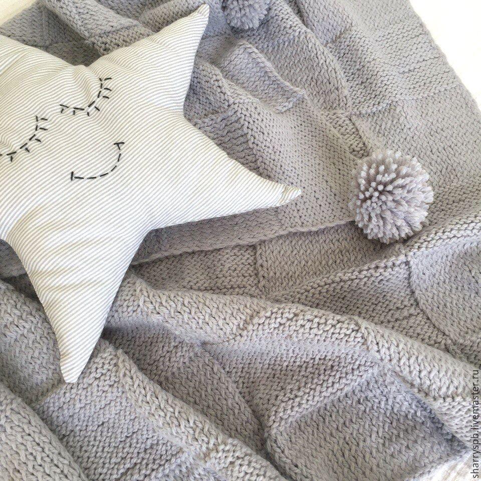 Вязаные детские одеяла и пледы 55