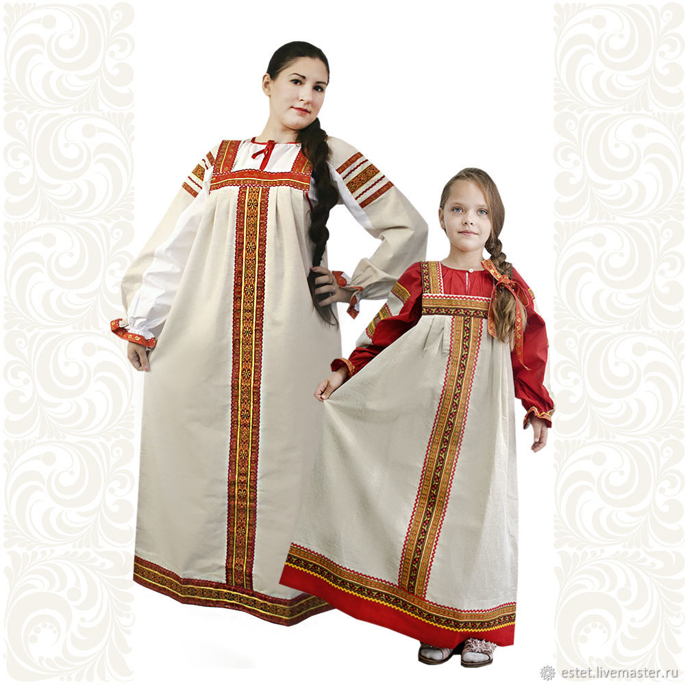 Copy of Copy of Copy of Сotton dress for woman and girl Nadia, Folk dresses, Korolev,  Фото №1