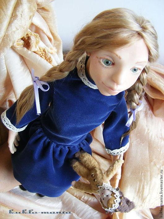 Коллекционные куклы ручной работы. Ярмарка Мастеров - ручная работа. Купить Ляля. Всем, носившим косы, посвящается.. Handmade. косички