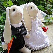 Свадебный салон ручной работы. Ярмарка Мастеров - ручная работа Любовь-морковь!Свадебные зайки для молодых. Handmade.