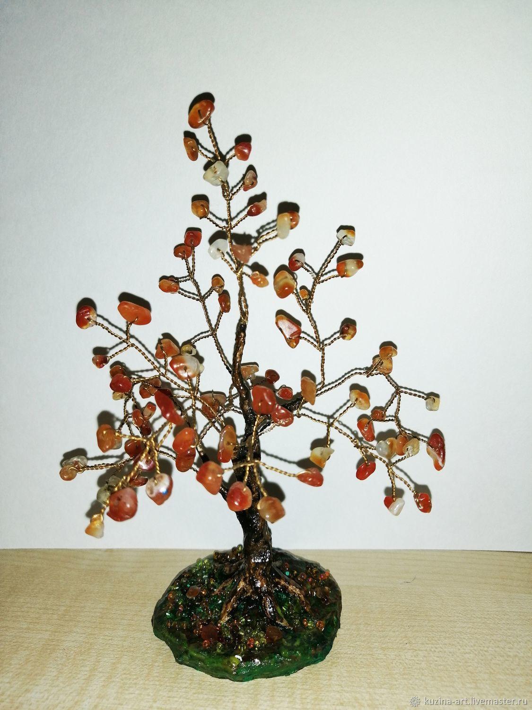 Дерево счастья из сердолика натурального, Деревья, Хабаровск, Фото №1