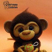 Куклы и игрушки ручной работы. Ярмарка Мастеров - ручная работа Обезьянка валяная Малышка Тосенька. Handmade.