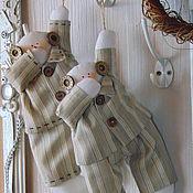 Подарки к праздникам ручной работы. Ярмарка Мастеров - ручная работа Тильда Сонный Снеговик в пижамке.. Handmade.