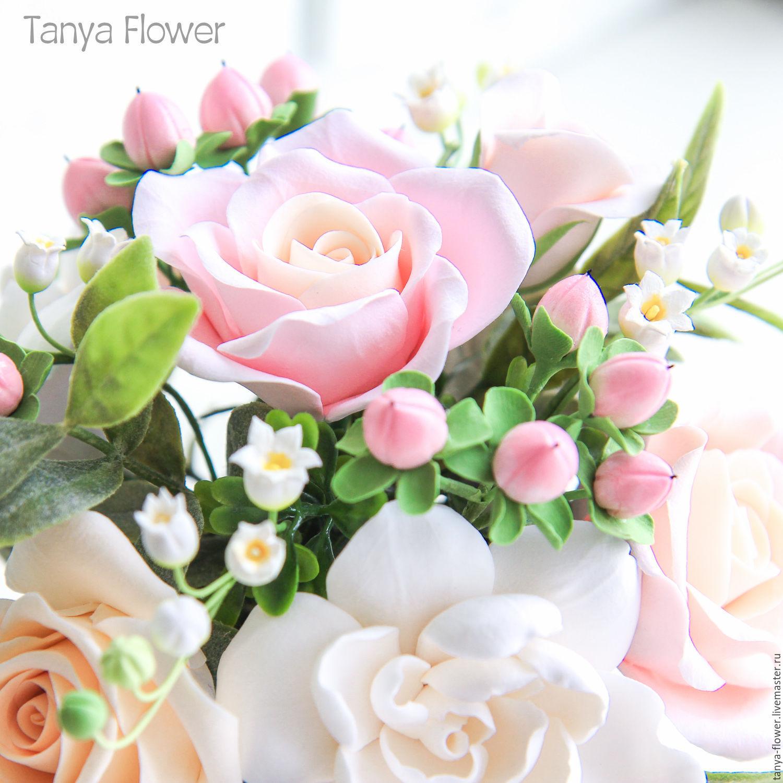 Цветы из японской глины