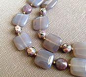 Украшения handmade. Livemaster - original item Bracelet Through the corridors of time. Cloisonne beads, smoky grey agate. Handmade.