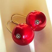 Украшения ручной работы. Ярмарка Мастеров - ручная работа Серьги Красные шары. Крупные стильные серьги.. Handmade.