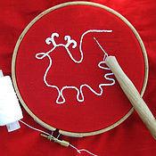Материалы для творчества ручной работы. Ярмарка Мастеров - ручная работа Люневильский крючок для тамбурной вышивки, вышивки бисером и пайетками. Handmade.
