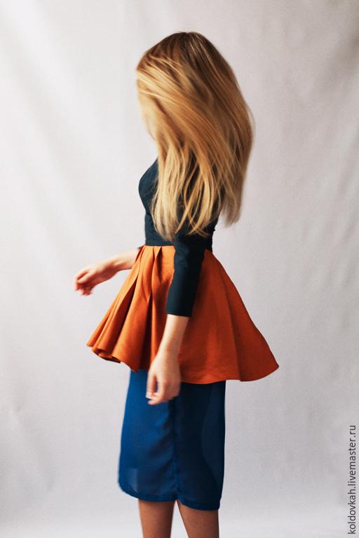 """Платья ручной работы. Ярмарка Мастеров - ручная работа. Купить Платье """"Colour"""". Handmade. Разноцветный, двухслойное платье, шерсть"""