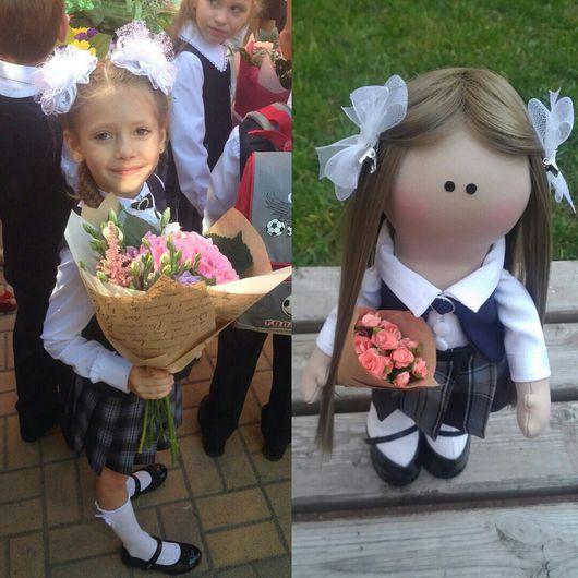 Портретные куклы ручной работы. Ярмарка Мастеров - ручная работа. Купить Портретная кукла Лиза. Handmade. Текстильная кукла