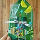 Часы для дома ручной работы. Ярмарка Мастеров - ручная работа. Купить Часы из стекла Застолье. Фьюзинг.. Handmade. Зеленый