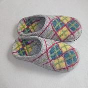 """Обувь ручной работы. Ярмарка Мастеров - ручная работа Тапочки """"Домашний уют 43"""". Handmade."""