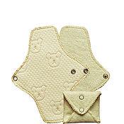 Одежда ручной работы. Ярмарка Мастеров - ручная работа Многоразовые женские гигиенические прокладки Ежедневные. Handmade.