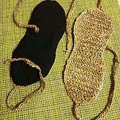 Комплекты аксессуаров ручной работы. Ярмарка Мастеров - ручная работа Маска для глаз из крапивного волокна. Handmade.