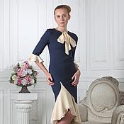 Одежда ручной работы. Ярмарка Мастеров - ручная работа 067: коктейльное платье с воланами, праздничное платье для офиса. Handmade.