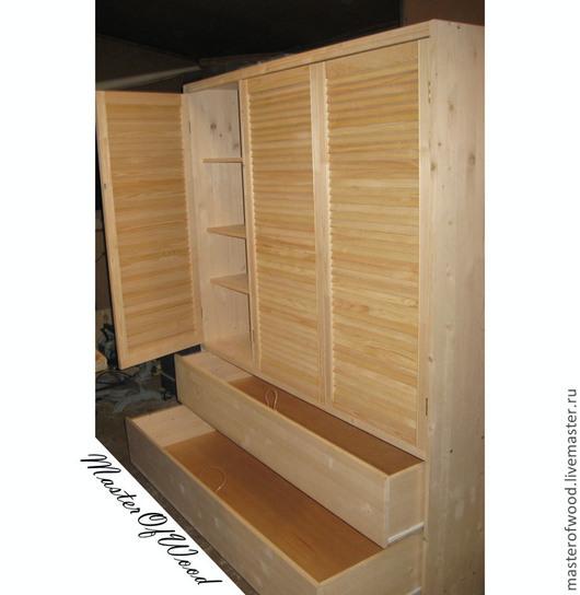 Мебель ручной работы. Ярмарка Мастеров - ручная работа. Купить Платяной шкаф. Handmade. Шкаф платяной, мебель из дерева, Дуб