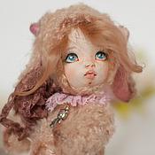 Куклы и игрушки ручной работы. Ярмарка Мастеров - ручная работа Овечка Мила, тедди долл. Handmade.