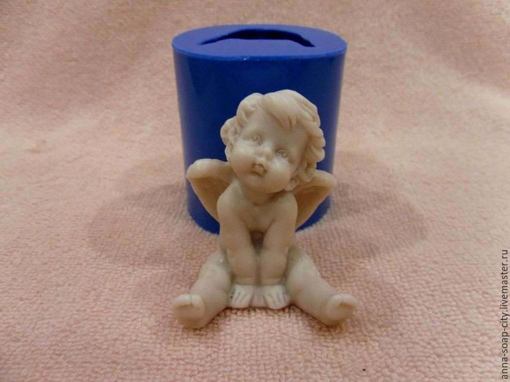 Silicone mold for soap and candles ' angel', Makeup tools, Arkhangelsk,  Фото №1