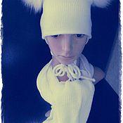 Работы для детей, ручной работы. Ярмарка Мастеров - ручная работа вяжу на заказ машинное вязание ,это шляпка ручная работа качество отли. Handmade.