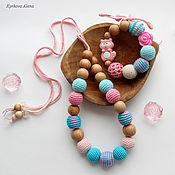 Одежда handmade. Livemaster - original item Slingobusy and teething toy set Soft. Handmade.