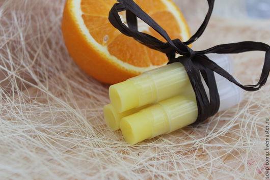 """Бальзам для губ ручной работы. Ярмарка Мастеров - ручная работа. Купить """"Сладкий Апельсин"""" бальзам для губ. Handmade. Лимонный"""