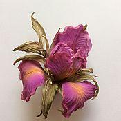 """Украшения ручной работы. Ярмарка Мастеров - ручная работа Ирис """"Пурпур"""". Handmade."""