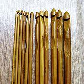 Материалы для творчества ручной работы. Ярмарка Мастеров - ручная работа Крючок для вязания бамбуковый. Handmade.