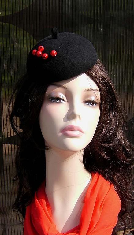 Fedoras & formal hats handmade. Livemaster - handmade. Buy hat'Smorodinka'.Little hat, hat tablet, hat, evening hat