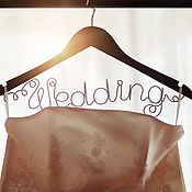 Вешалка плечики для свадебного платья. Вешалка свадебная именная