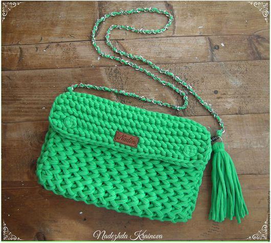 Женские сумки ручной работы. Ярмарка Мастеров - ручная работа. Купить Сумочка. Handmade. Зеленый, клатч, сумочка, хлопок