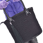 "Сумка ""Одри"". Вязаная сумка, сумка-шоппер, кроссбоди"