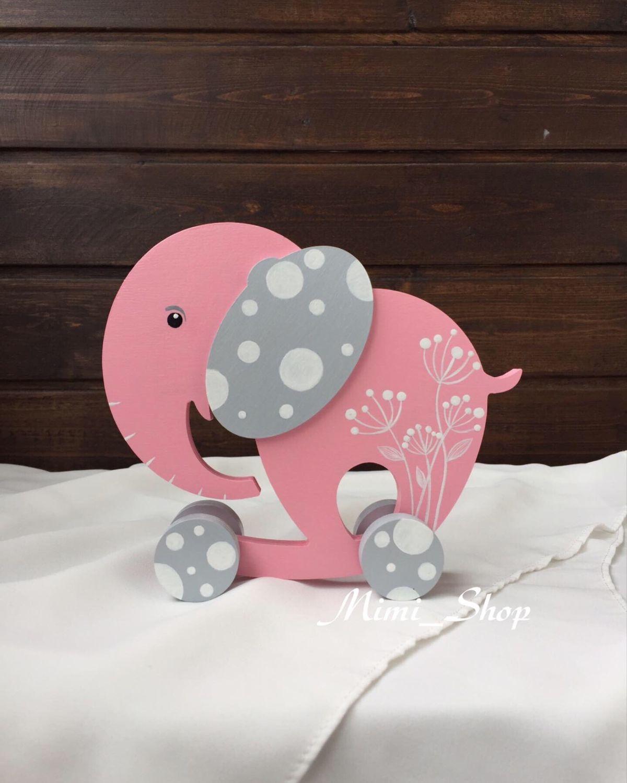 Игрушки животные, ручной работы. Ярмарка Мастеров - ручная работа. Купить Каталка Слоник Pink. Handmade. Слон, каталка