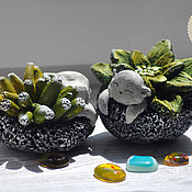Для дома и интерьера handmade. Livemaster - original item Floral kittens. Handmade.
