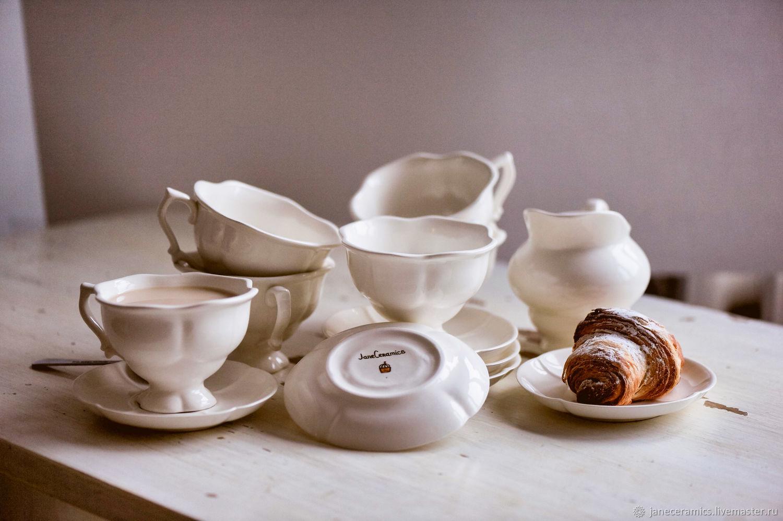Зефирный сервиз.. Посуда ручной работы, керамика, Сервизы, Жуковский,  Фото №1