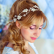 Свадебный салон handmade. Livemaster - original item wedding wreath. tiara.. Handmade.