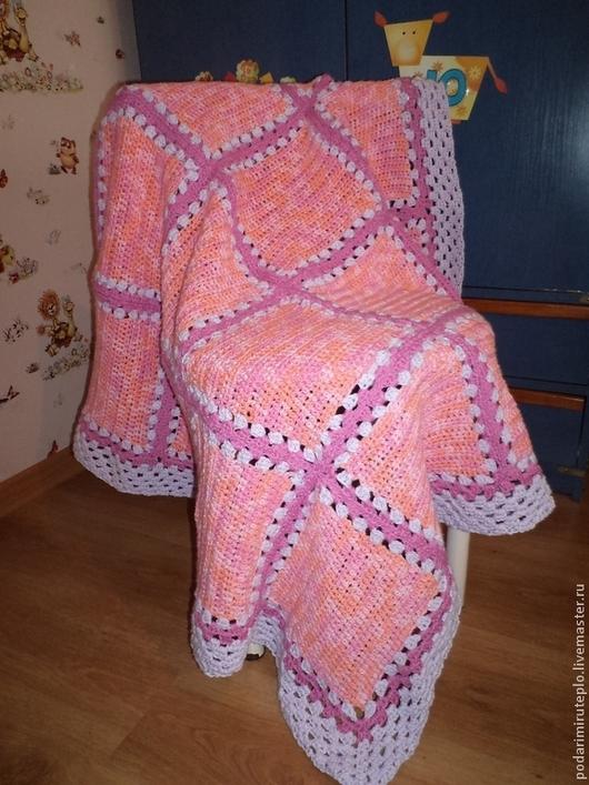 """Пледы и одеяла ручной работы. Ярмарка Мастеров - ручная работа. Купить Детское одеяло """"Розовый сад"""". Handmade. Одеяло"""