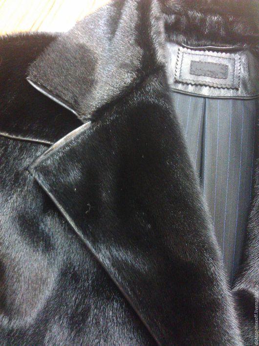 Для мужчин, ручной работы. Ярмарка Мастеров - ручная работа. Купить Пальто мужское нерпа. Handmade. Черный, юноше, нерпа