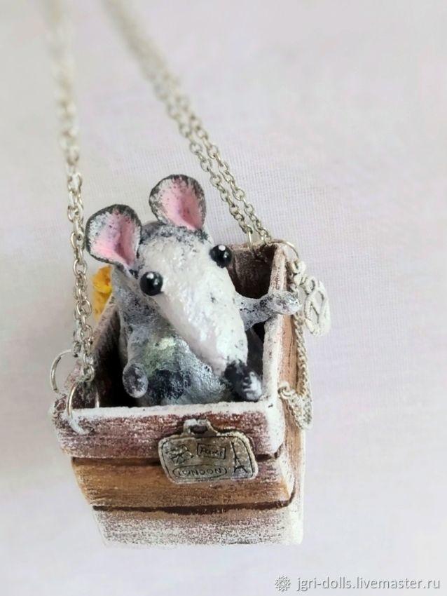 Крыся-путешественница, Елочные игрушки, Москва,  Фото №1