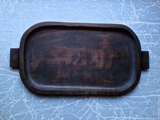 Кухня ручной работы. Ярмарка Мастеров - ручная работа. Купить Деревянный поднос. Handmade. Коричневый, темный, поднос для завтрака