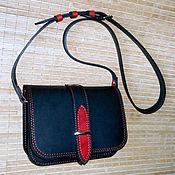 Сумки и аксессуары handmade. Livemaster - original item Black and red )). Handmade.