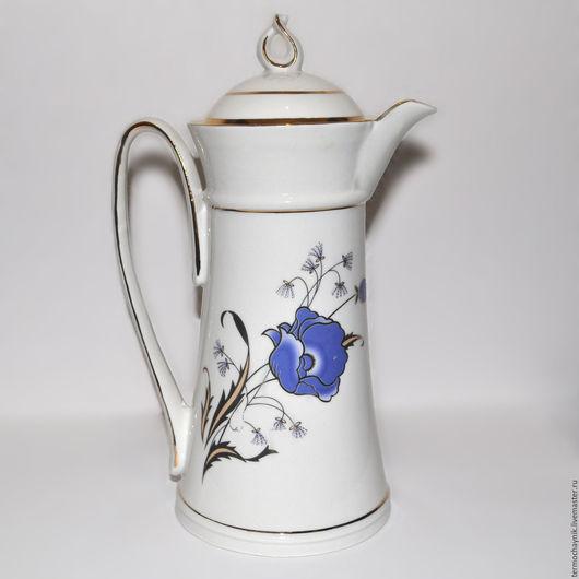 Модель Элегант `Синий мак` 0,5 л.   Артикул 2.5.  На цветке имеется маленькое белое пятнышко (видно при увеличении), поэтому цена снижена. В глаза не бросается, практически незаметно.