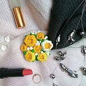 Брошь-булавка ручной работы. Ярмарка Мастеров - ручная работа Летняя частичка на каждый день. Handmade.