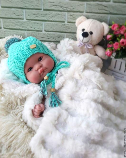 """Шапки и шарфы ручной работы. Ярмарка Мастеров - ручная работа. Купить Шапка для новорожденного """"Sweet baby"""". Handmade. Мятный"""