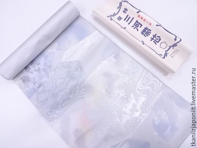 Винтаж: Японское кимоно ткань для пояса ОБИ Нишиджина, Винтажные аксессуары, Челябинск,  Фото №1