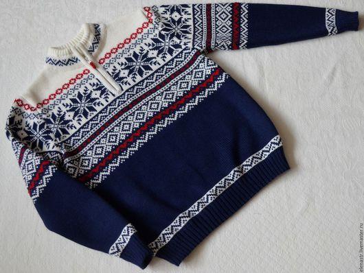 Одежда для мальчиков, ручной работы. Ярмарка Мастеров - ручная работа. Купить Джемпер для мальчика с норвежским орнаментом-1. Handmade.