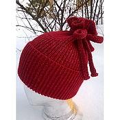 Аксессуары ручной работы. Ярмарка Мастеров - ручная работа Рубиновая шапочка из альпаки. Handmade.